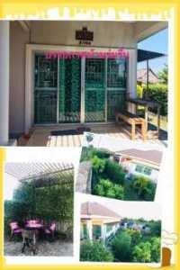 ให้เช่าบ้านหรือขายบ้านเดี่ยว หมู่บ้านโฮมแลนด์ ต.นาป่า เมืองชลบุรี 92 ตรว. 2 ห้องนอน